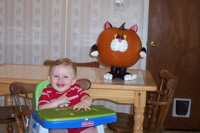 Matthew and pumpkin